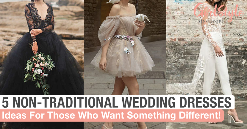 5 Alternatives To A Traditional White Wedding Dress For The Non Conventional Bride Girlstyle Singapore