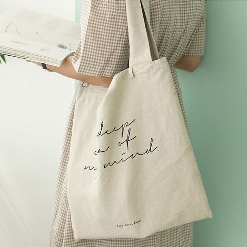Tote bag paired with a dress
