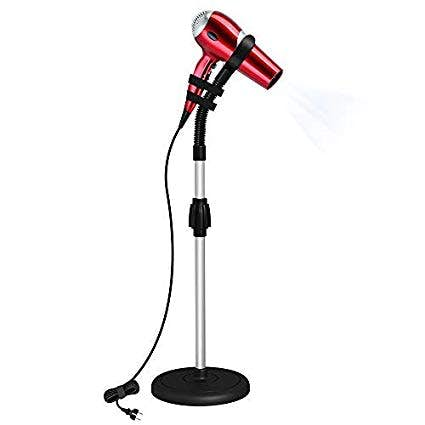 Hands Free Blow Dryer Holder Adjustable Height Hair Dryer Stand With Heavy Non-Tipping Base