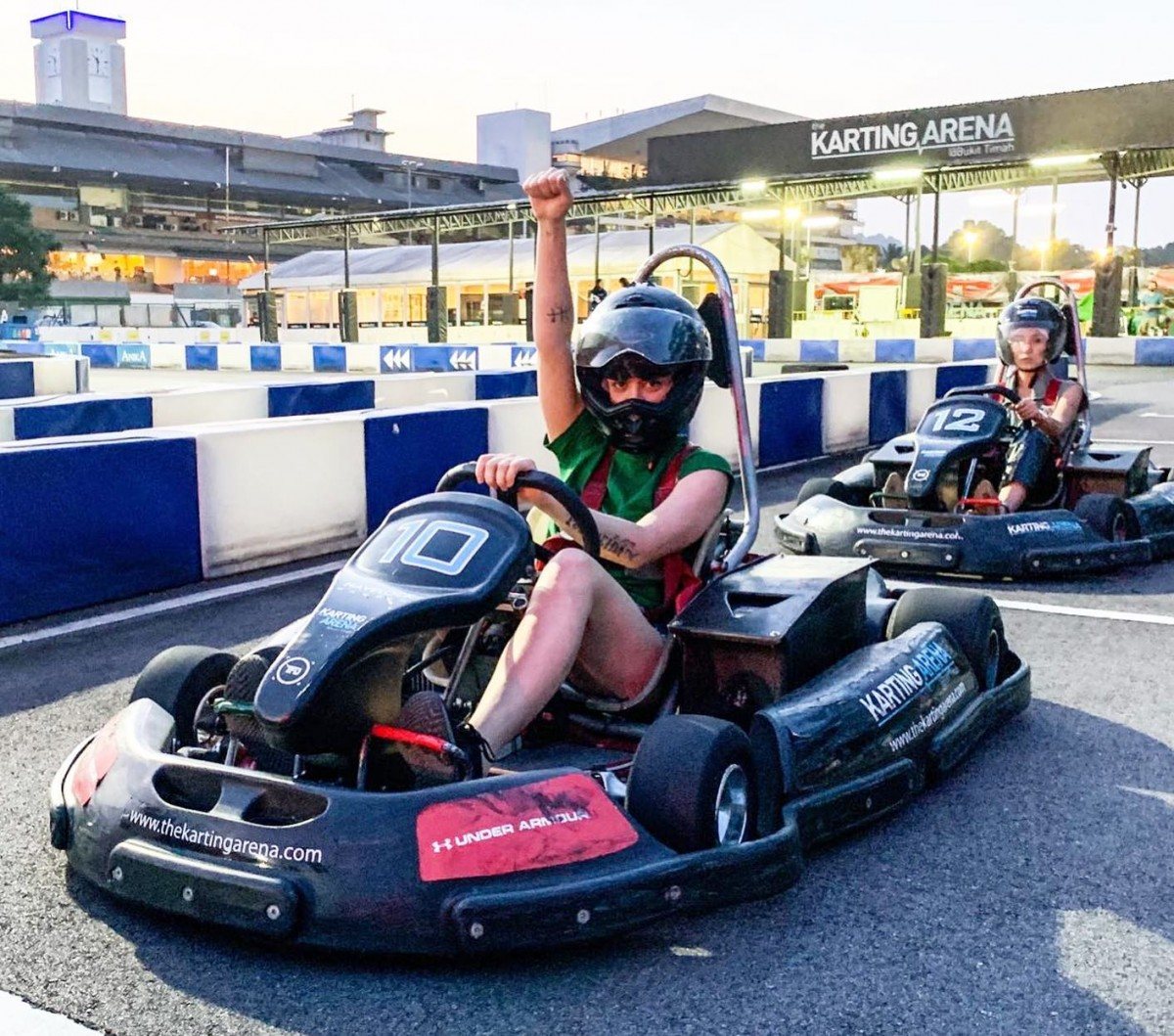 The Karting Arena has electric powered karts
