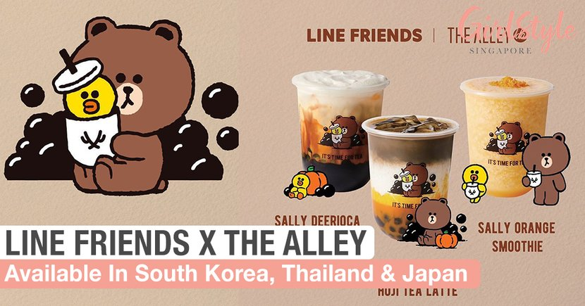 LINE FRIENDS X The Alley Collaboration Available In South Korea, Japan & Thailand