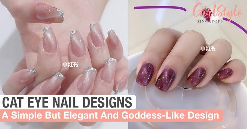 8 Elegant And Goddess-Like Cat Eye Nail Designs