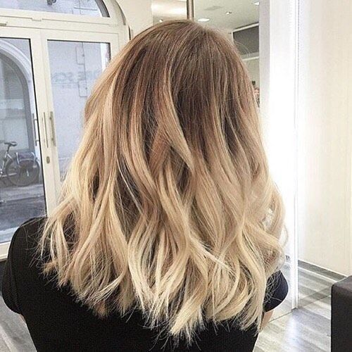 girl with blonde ombre hair