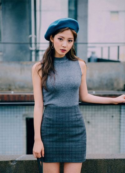 Girl with blue beret