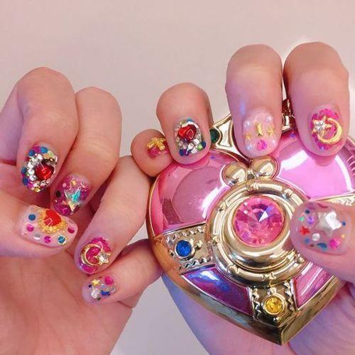 Sailor Moon-Inspired Nail Art