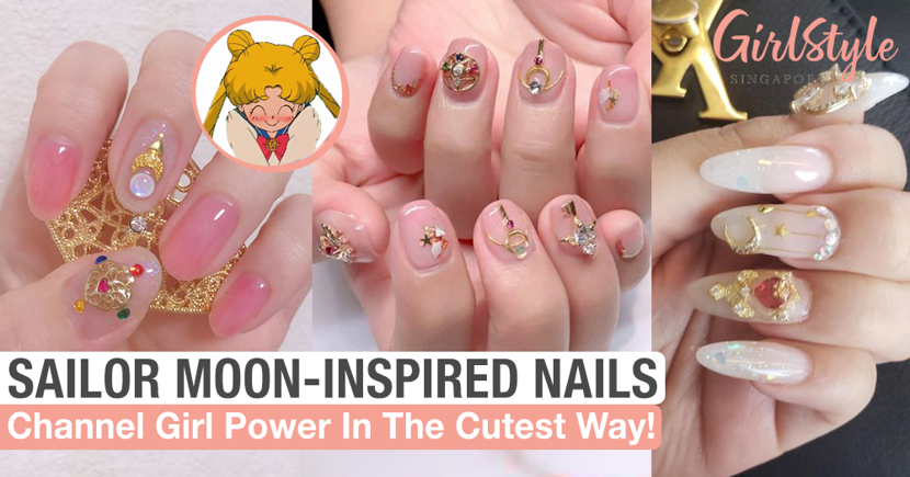 Throwback To The 90's With Sailor Moon-Inspired Nail Art