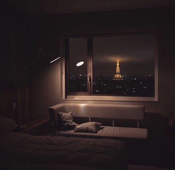 night light in a dark room