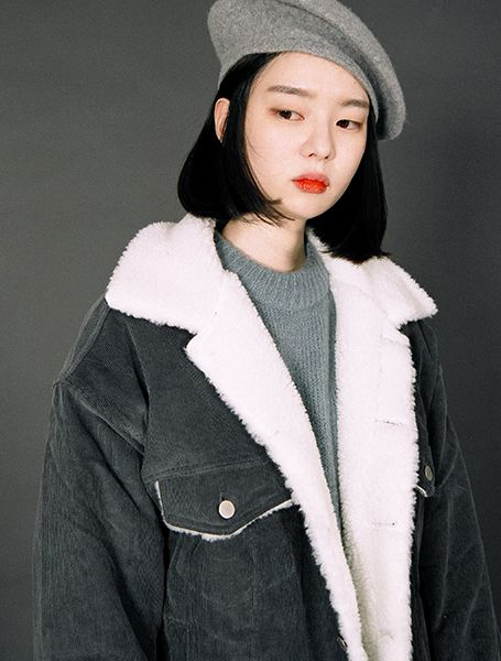 Girl with grey beret