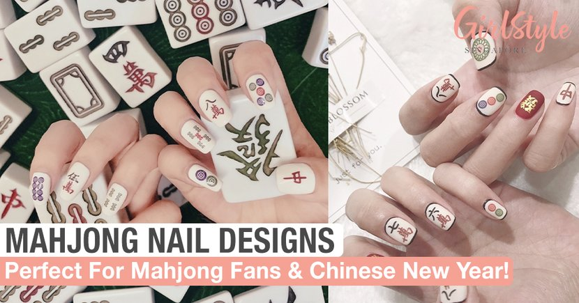 Chinese New Year Nail Designs For All The Mahjong Fans