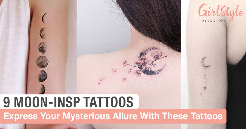 Express Your Alluring Yet Mysterious Charm With These 9 Moon Tattoos