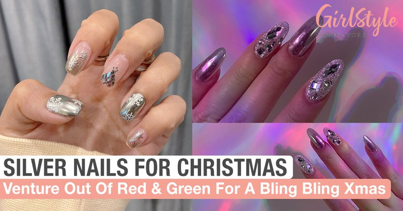 Silver Nail Art Designs For A Bling Bling Christmas Girlstyle Singapore