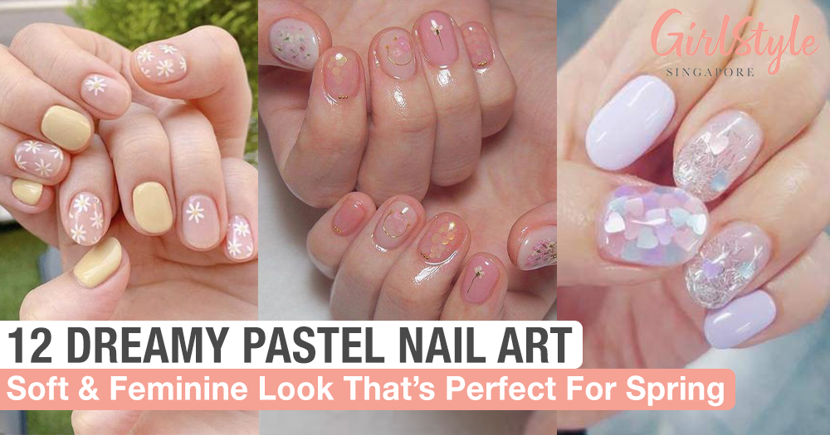 FEA cover pastel nail art