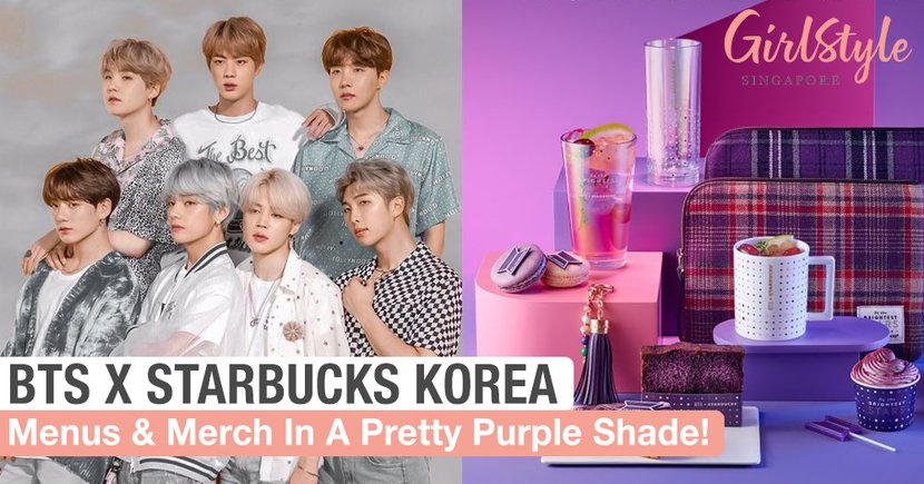 BTS X Starbucks Korea: Limited Edition Menus & Merchandise In A Pretty Purple Shade