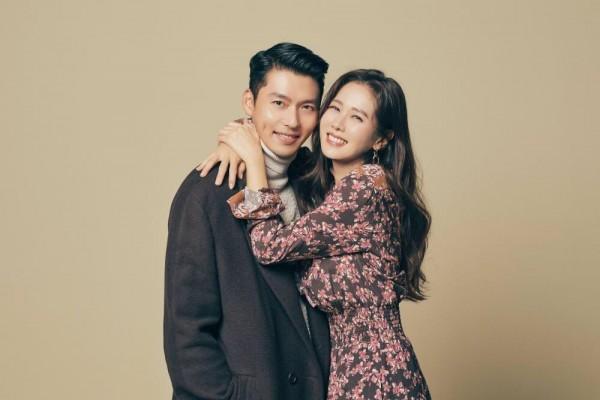 Son Ye Jin hugging Hyun Bin