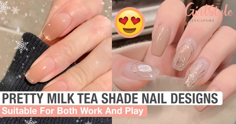 Pretty Milk Tea Shade Nail Designs Suitable For Both Work And Play