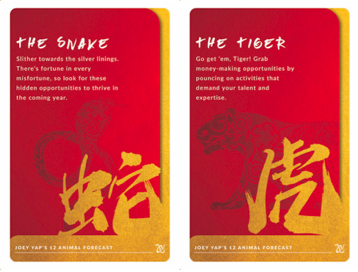 snake and tiger chinese zodiac forecast EZ-Link card