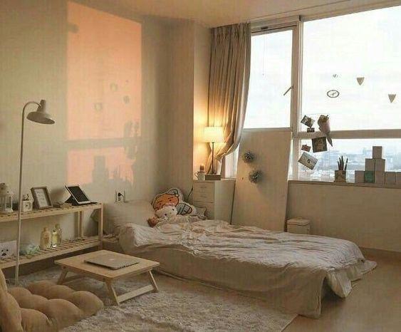 Korean-style bedroom interior design simple and stylish