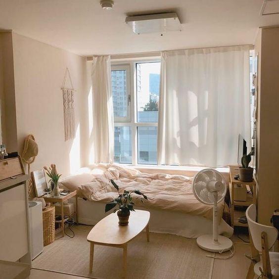 Korean-style bedroom interior design minimalist