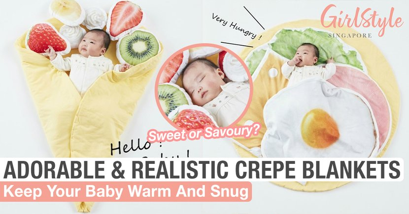 Keep Your Baby Warm With These Super Adorable & Realistic-Looking Crepe Blankets