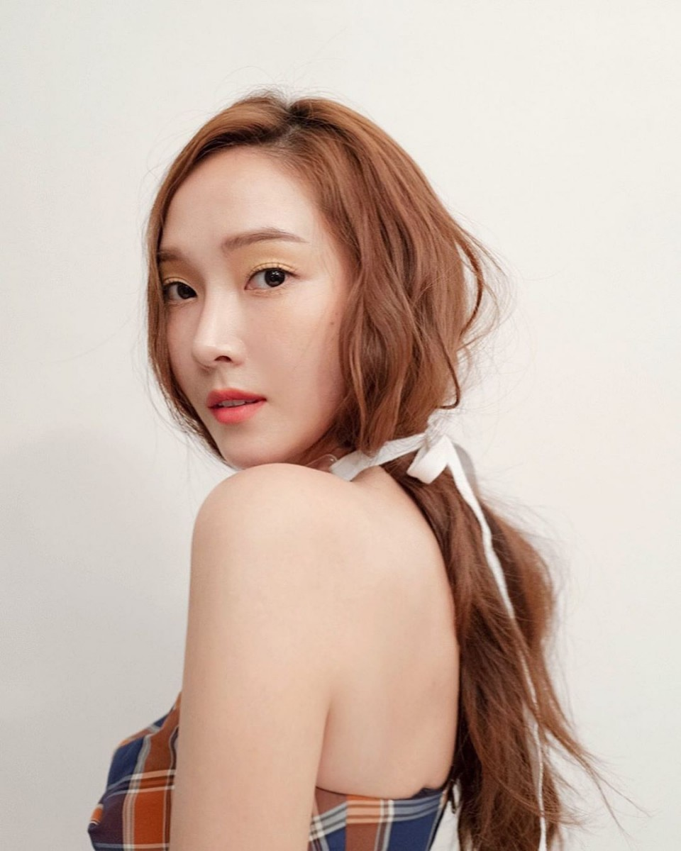 Jessica Jung with caramel brown hair