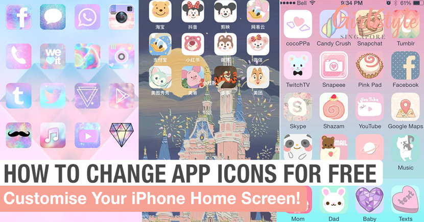 The Free Trick To Customise App Icons & Have An Aesthetic Home Screen