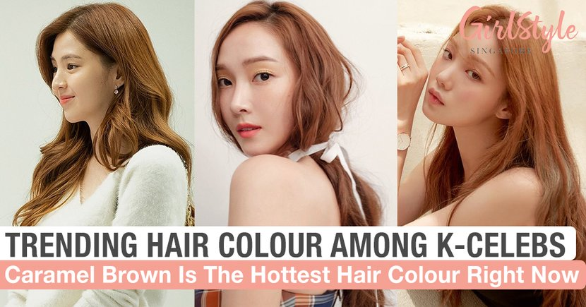 Caramel Brown Is The Hottest Trending Hair Colour Among Korean Celebrities Right Now