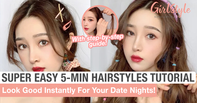 Super Easy 5-Minute Hairstyles Tutorial For Date Nights