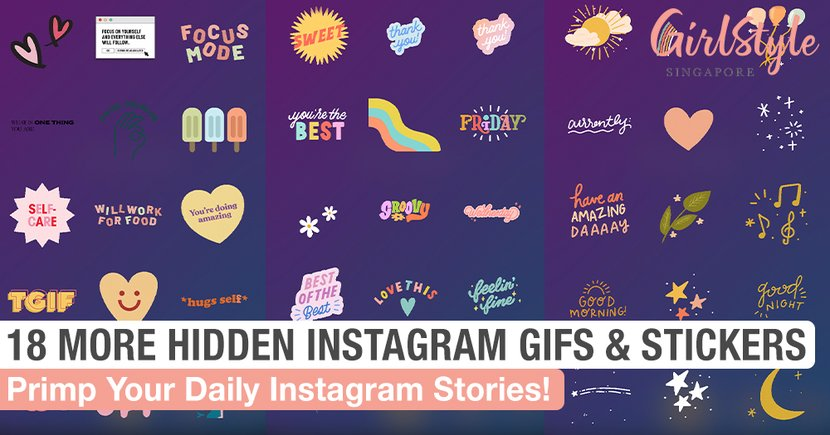 18 More Adorable Hidden Gifs & Stickers To Primp Your Daily Instagram Stories