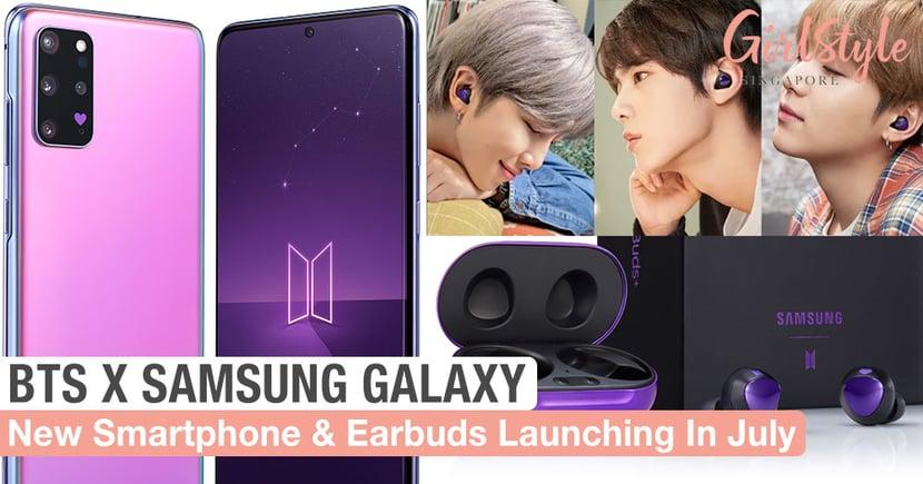 BTS Samsung Galaxy Smartphone S20+ & Buds+ Earphones In ...