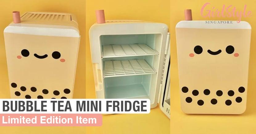 This Mini Boba Fridge Is Perfect For Your Skincare Products Or Secret Bubble Tea Stash