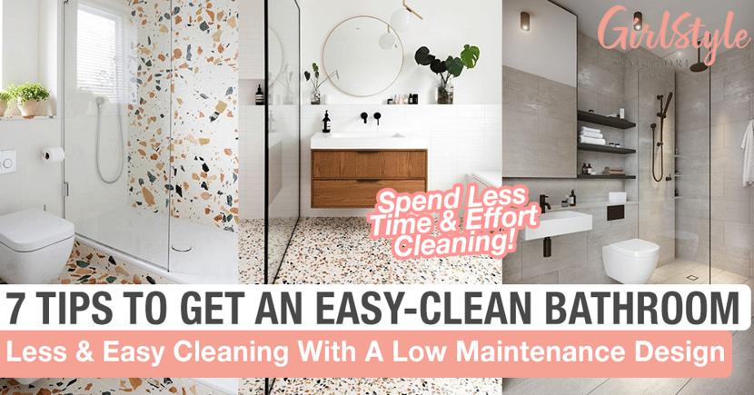 Low Maintenance Easy To Clean Hdb Bto Bathroom Design Girlstyle Singapore