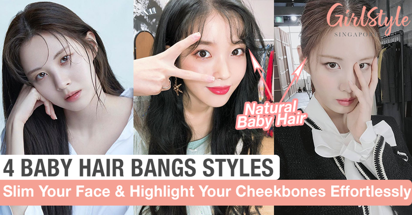 Get A Slimmer-Looking Face & A Natural Look With These 4 Korean Baby Hair Bangs Styles