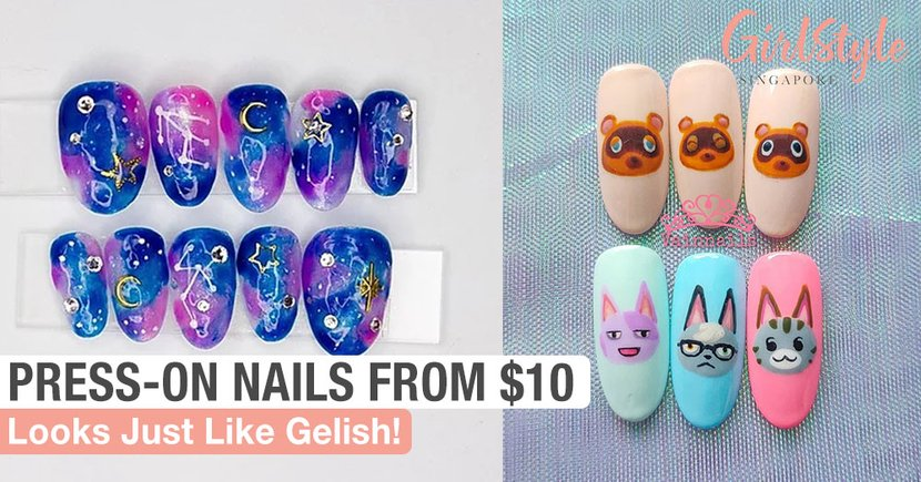 9 Affordable Press-On Nail Brands In Singapore From $10 For Reusable Gelish-Like Extensions