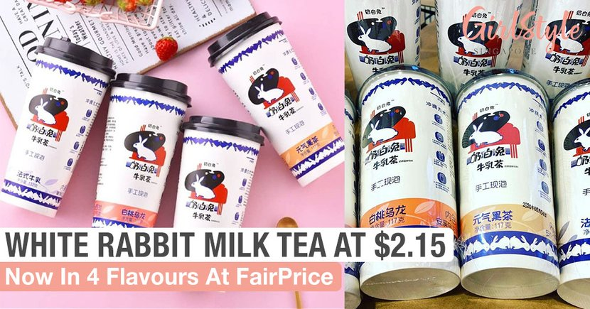 White Rabbit Milk Tea Is Now Sold At FairPrice For Just $2.15, 4 Flavours Available