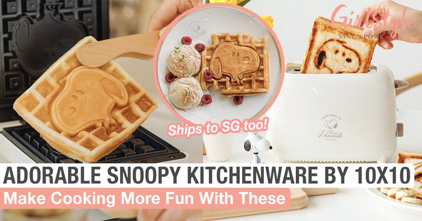 New Adorable Snoopy Kitchenware By 10x10 To Make Cooking More Fun, Ships To Singapore Too