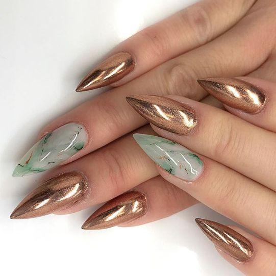 Jade marble nails