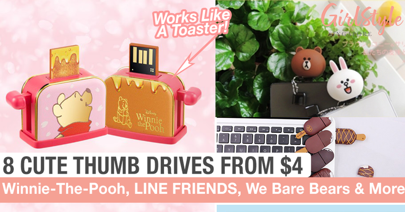 8 Cute Thumb Drives From $4 That You Can Shop Online In Singapore