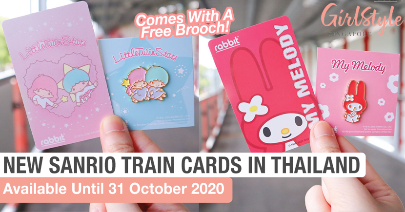 Explore Thailand Using The New Sanrio BTS Train Rabbit Cards That Come With A Free Brooch