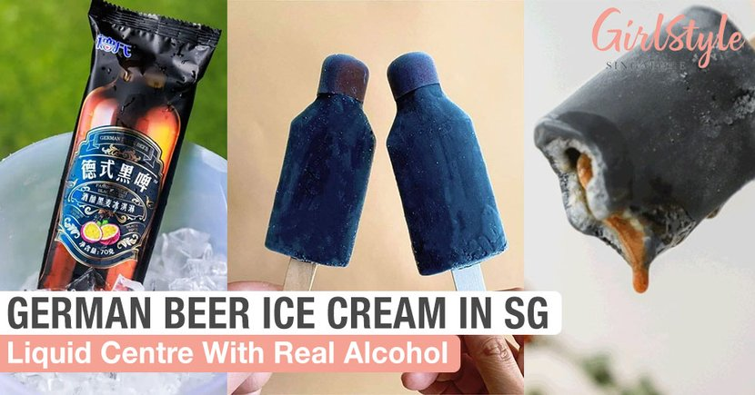 German Black Beer Ice Cream With Real Alcohol Liquid Centre: Coming To Singapore This July