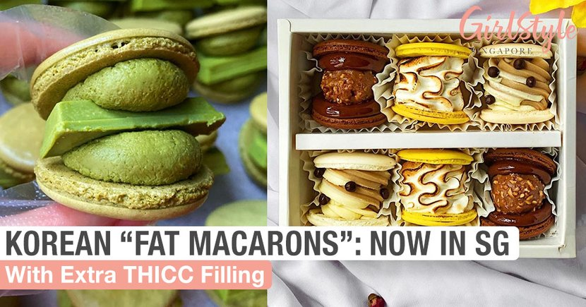 Korea's Trending Fat Macarons With Extra THICC Filling Have Come To Singapore