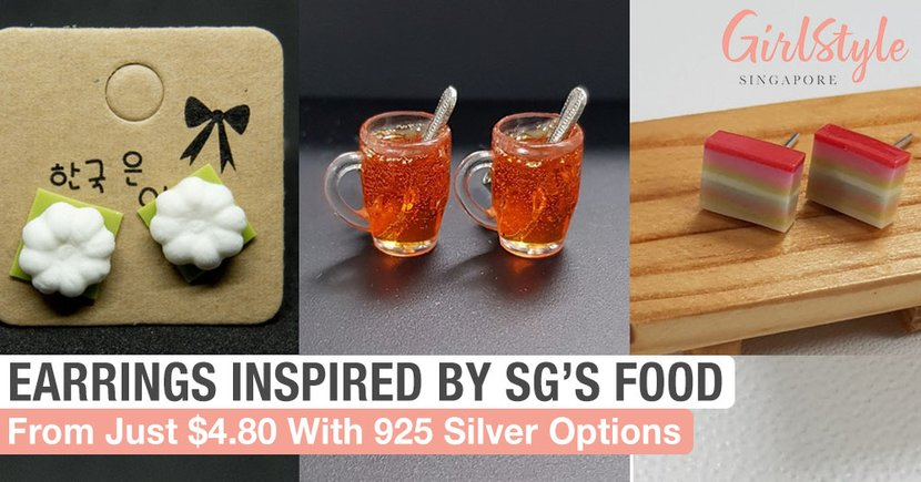 7 Quirky Handmade Earrings Inspired By Singapore's Local Food & Snacks From Just $4.80