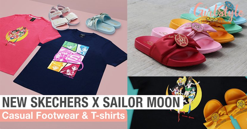 SKECHERS x Sailor Moon: New T-Shirts & Casual Shoes Like Slides & Sandals Now In Singapore