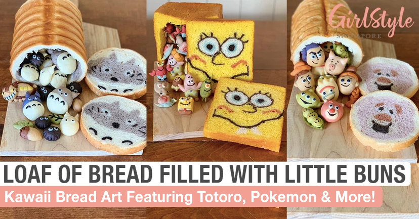 Adorable Bread Art With Little Character Buns Inside A Loaf Of Bread