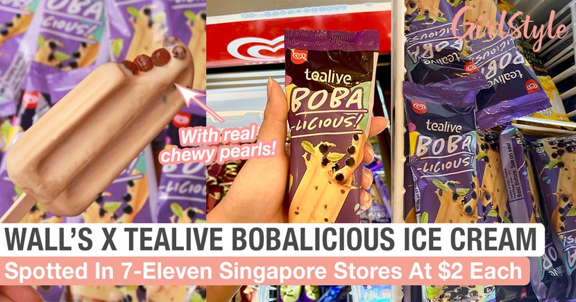 Wall's X Tealive Bobalicious Ice Cream With Real Chewy Pearls Spotted In 7-Eleven Singapore At $2