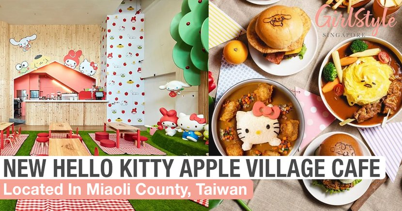 New Hello Kitty Apple Village Cafe In Miaoli County, Taiwan Is A Must-Visit For Sanrio Fans