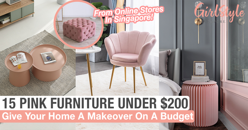15 Pink Furniture Under $200 Including Coffee Tables, Chairs, Ottomans & More