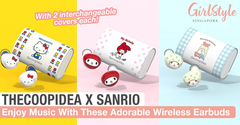 These Adorable Sanrio x thecoopidea Wireless Earbuds Will Make Listening To Music More Fun