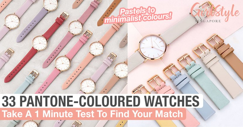 Alette Blanc Japan Has 33 Different Pantone-Coloured Watches, Take A 1 Min Test To Find Your Match