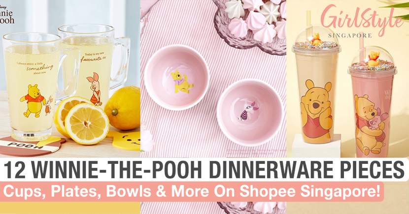 12 Winnie-The-Pooh Dinnerware & Drinkware From $6 That You Can Shop Online On Shopee Singapore