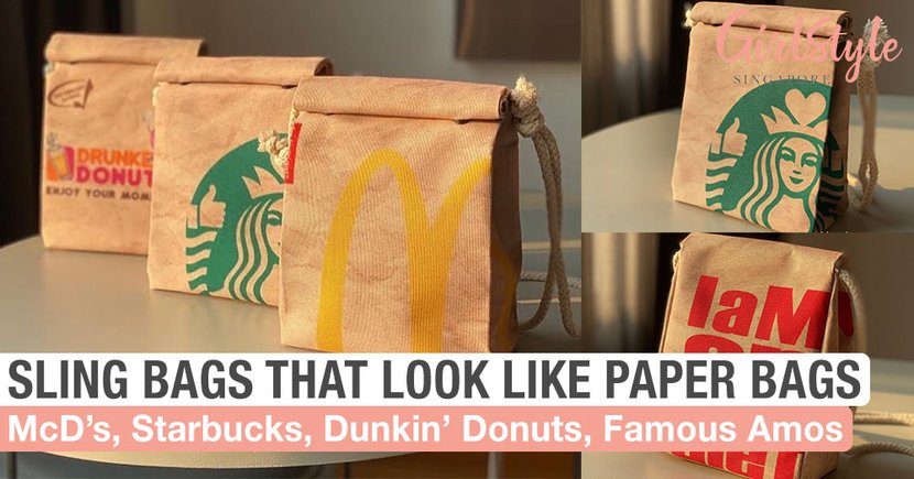 These Sling Bags Look Just Like Paper Bags From Your Favourite F&B Brands, Get Them In Singapore
